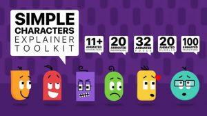 پروژه افترافکت مجموعه انیمیشن کاراکتر ساده Simple Characters Explainer