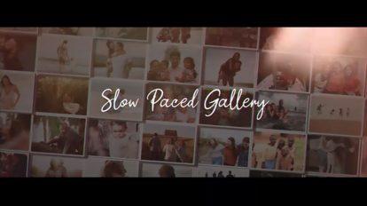 پروژه افترافکت گالری عکس Slow Paced Gallery