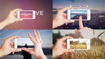 پروژه افترافکت اسلایدشو با اسمارت فون Clean Smartphone Slideshow