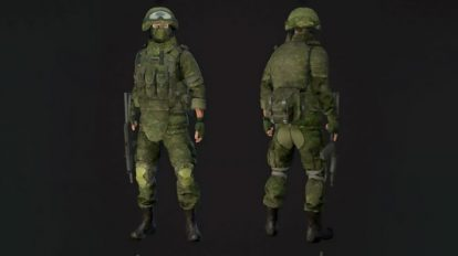 مدل سه بعدی کاراکتر سرباز Soldier in Equipment