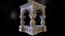 مدل سه بعدی طاق سنگی Stone Structure