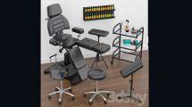 مدل سه بعدی صندلی کار خالکوبی Tattoo Furniture Set