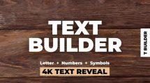 پروژه افترافکت ساخت انیمیشن متن Text Builder