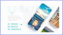 پروژه افترافکت پرزنتیشن اپلیکیشن گردشگری Travel App Promo Presentation