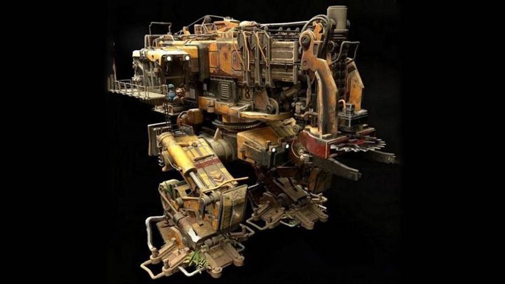 مدل سه بعدی ماشین برش درخت Tree Cutter Mech