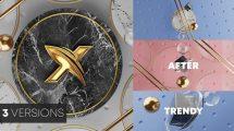 پروژه افترافکت نمایش لوگو سه بعدی Trendy 3D Logo Reveal