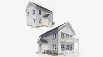 مدل سه بعدی خانه دو طبقه Two-Storey House