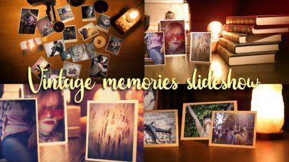 پروژه افترافکت اسلایدشو عکس خاطرات Vintage Memories Photo Slideshow