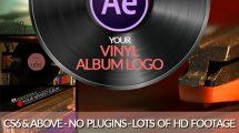 پروژه افترافکت نمایش لوگو روی صفحه موسیقی Vinyl Record Logo