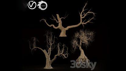 مدل سه بعدی درخت دکوری Tree Game and Decor