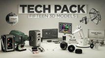 مجموعه مدل سه بعدی با موضوع تکنولوژی 3D Tech Pack for Cinema 4D