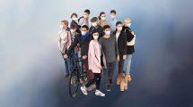 مدل سه بعدی مردم با ماسک Social Distancing Bundle