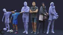 مجموعه مدل سه بعدی کاراکتر انسان 3D People Mega Collection