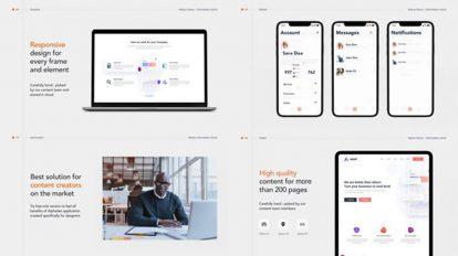 پروژه افترافکت تیزر تبلیغاتی وبسایت Alpha App Website Promo