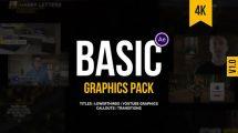 پروژه افترافکت اجزای گرافیکی برای ویدیو Basic Graphics Pack for Video Creators