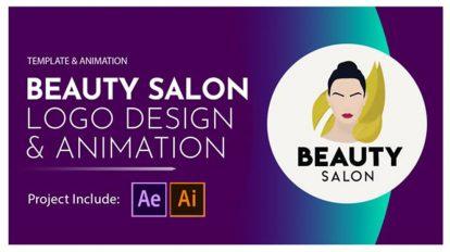 پروژه افترافکت نمایش لوگو سالن زیبایی Beauty Salon Logo