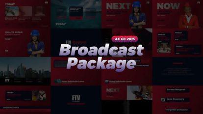 پروژه افترافکت مجموعه اجزای برودکست Broadcast Package