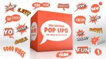 پروژه افترافکت نمایش پاپ آپ کارتونی Cartoon Pop-Ups