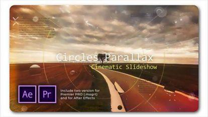پروژه پریمیر اسلایدشو سینمایی پارالکس Circle Parallax Slideshow