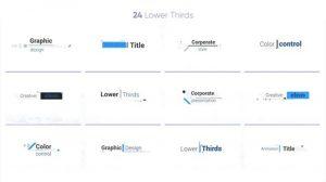 پروژه افترافکت متن متحرک شرکتی Corporate Titles 4K