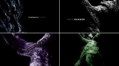 پروژه افترافکت نمایش عناوین سینمایی Dark Cinematic Titles