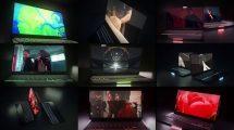پروژه افترافکت موکاپ لپ تاپ Dark Laptop Mockup