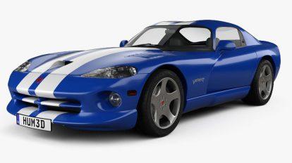مدل سه بعدی خودرو داج Dodge Viper GTS 1998