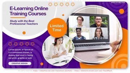 پروژه افترافکت تیزر تبلیغاتی دوره آموزشی E-Learning Online Training