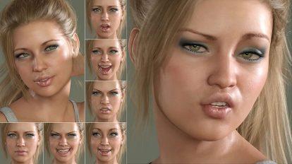 مجموعه پریست حالات صورت Expressions Gold Collections for Genesis 8