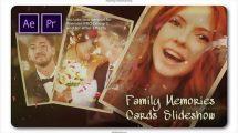 پروژه پریمیر اسلایدشو خاطرات خانوادگی Family Memories Cards Slideshow