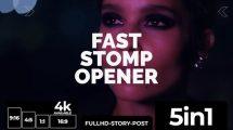 پروژه افترافکت مجموعه افتتاحیه سریع Fast Stomp Opener 5 in 1