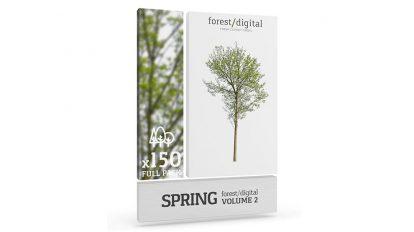 مجموعه تصاویر درخت بهاری Forest Digital Trees Vol 2