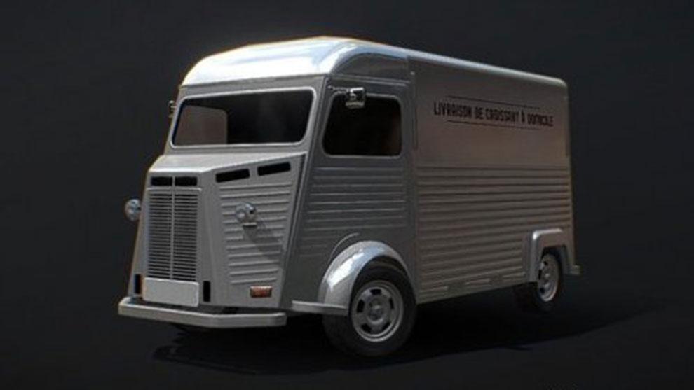 مدل سه بعدی ون حمل و نقل فرانسوی French Delivery Van