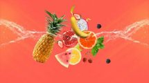 پروژه افترافکت نمایش لوگو با میوه Fresh Fruits Logo