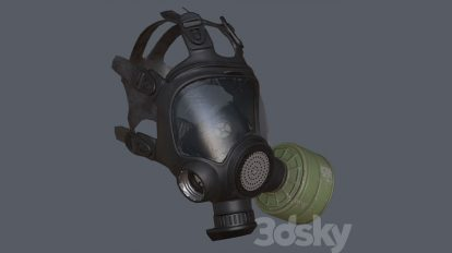 مدل سه بعدی ماسک گاز Gas Mask