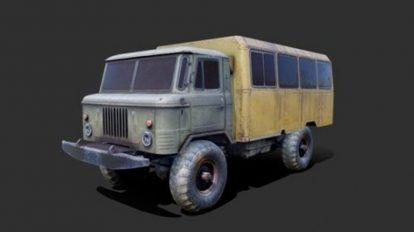 مدل سه بعدی ماشین سنگین قدیمی Gaz 66