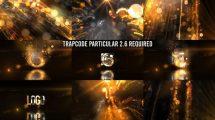 پروژه افترافکت نمایش لوگو پارتیکلی Golden Particles Logo Reveal