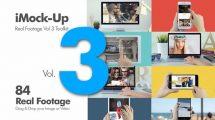 پروژه افترافکت مجموع موکاپ تجهیزات دیجیتال iMock-Up Real Footage Vol 3