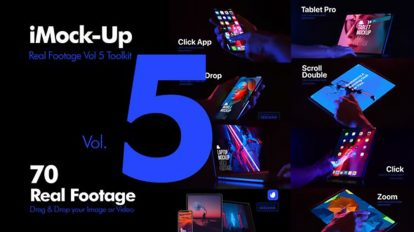 پروژه افترافکت مجموع موکاپ تجهیزات دیجیتال iMock-Up Real Footage Vol 5
