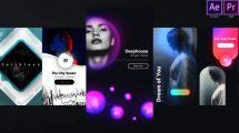 پروژه افترافکت استوری اینستاگرام برای موزیک Instagram Unique Music Stories