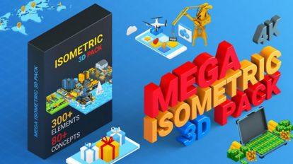 پروژه افترافکت تیزر تبلیغاتی ایزومتریک Isometric Mega Pack