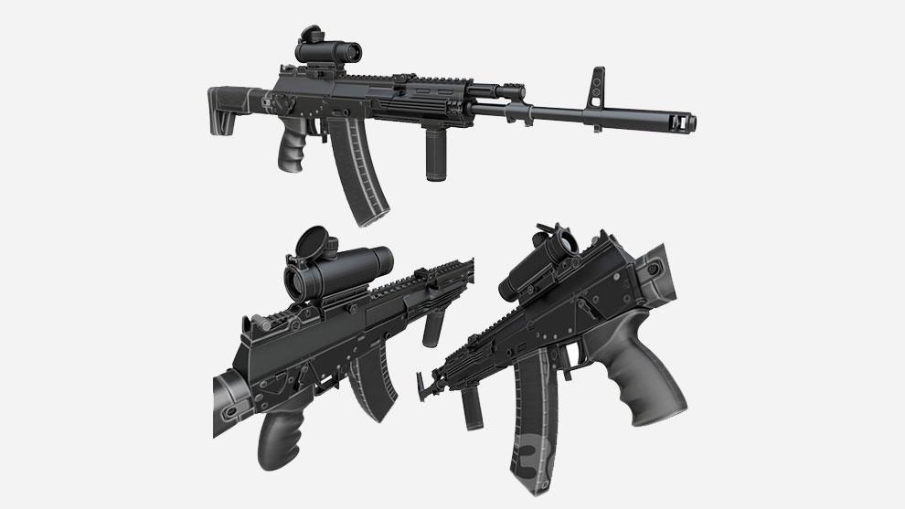 مدل سه بعدی اسلحه کلاشنیکف Kalashnikov AK 12