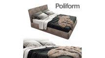 مدل سه بعدی تختخواب دونفره Laze Poliform