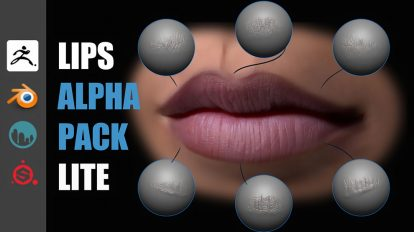 مجموعه تصاویر آلفا لب انسان Lips Detail Alpha Pack