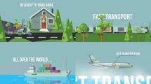 پروژه افترافکت تیزر تبلیغاتی شرکت باربری Logistics Delivery Promo