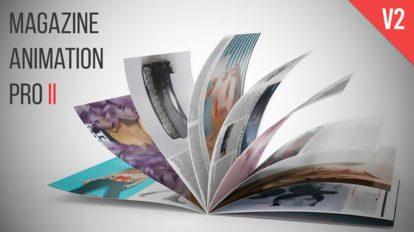 پروژه افترافکت تیزر تبلیغاتی مجله Magazine Animation Pro ii