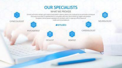 پروژه افترافکت تیزر تبلیغاتی مرکز درمانی Medical Center Promotion