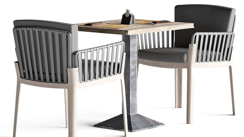 مدل سه بعدی میز و صندلی Miami Chair Welded Table
