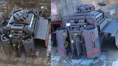 مدل سه بعدی ماژول نظامی Military Module