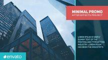 پروژه افترافکت تیزر تبلیغاتی مینیمال Minimal Promo